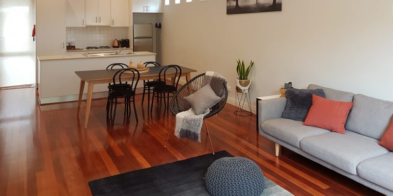 Open plan Lounge and Kitchen area